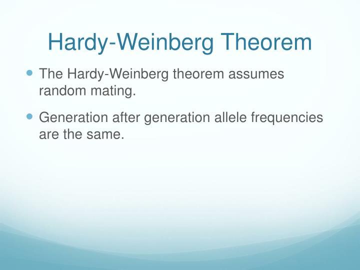 Hardy-Weinberg Theorem