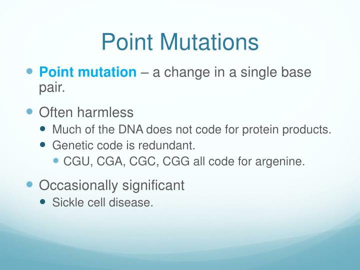 Point Mutations