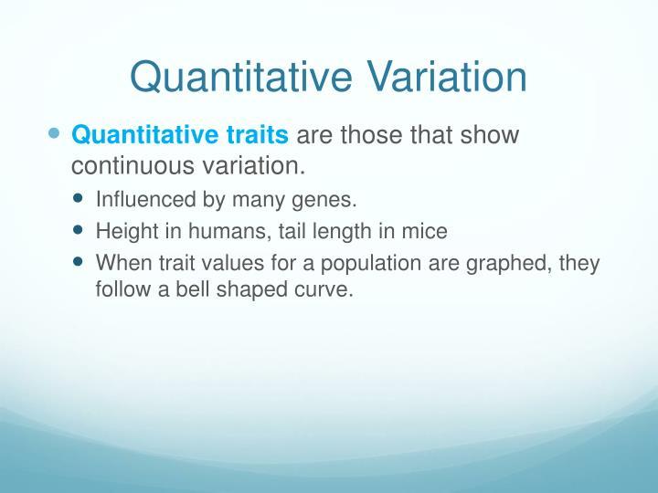 Quantitative Variation