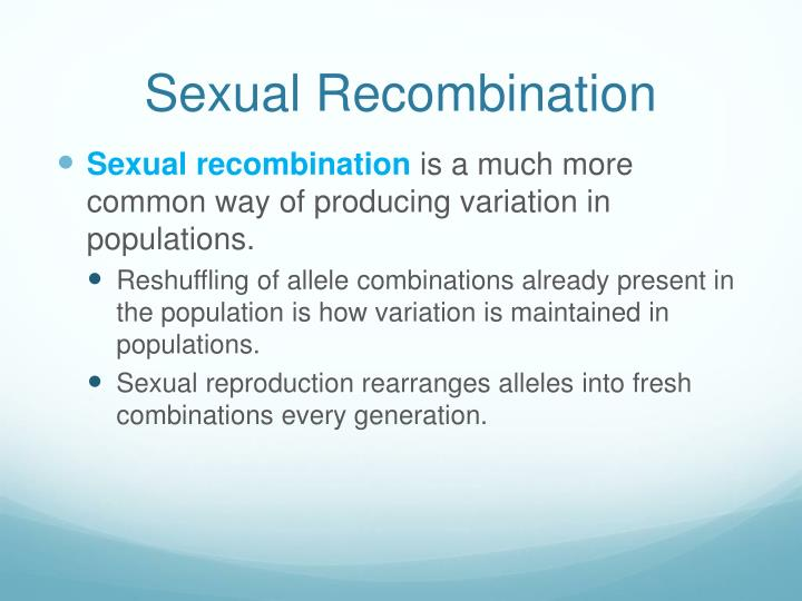 Sexual Recombination