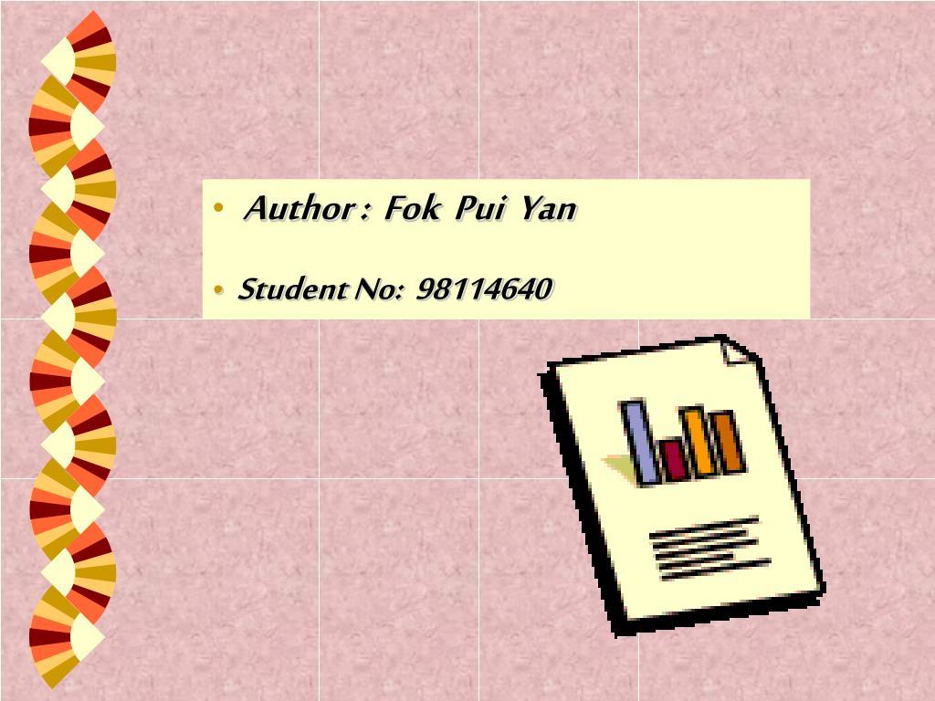 Author :  Fok  Pui  Yan