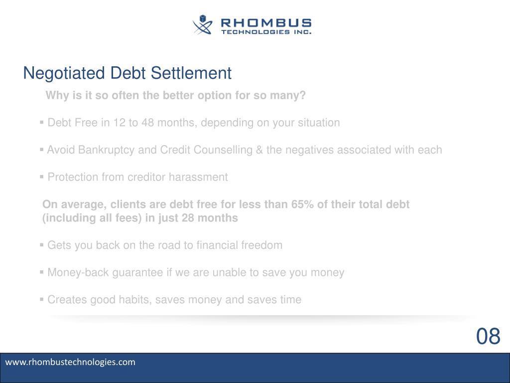 Negotiated Debt Settlement