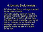 4 deistic evolutionists