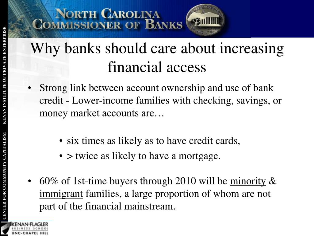 Why banks should care about increasing financial access