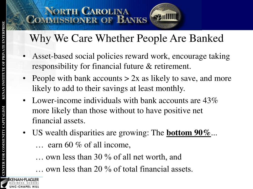 Why We Care Whether People Are Banked