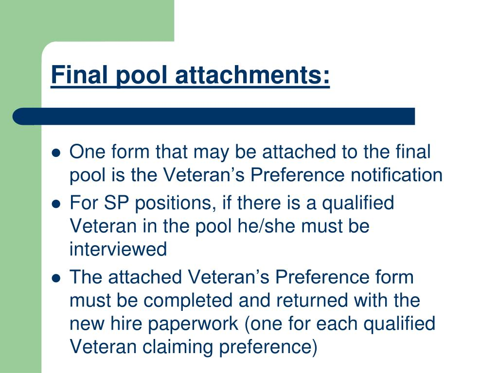 Final pool attachments:
