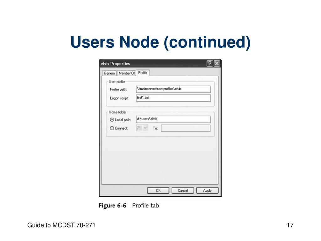 Users Node (continued)