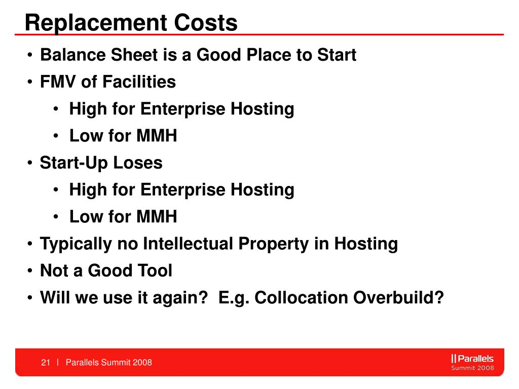 Replacement Costs