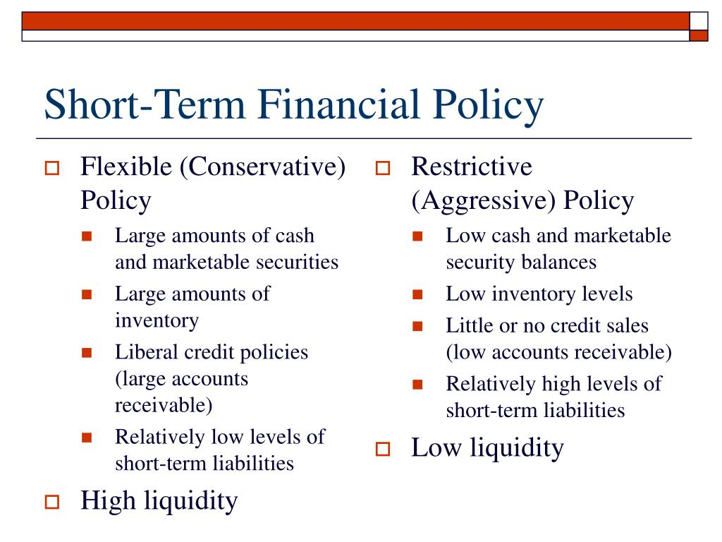 Flexible (Conservative) Policy