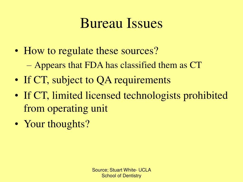 Bureau Issues