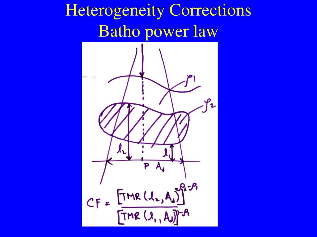 Heterogeneity Corrections