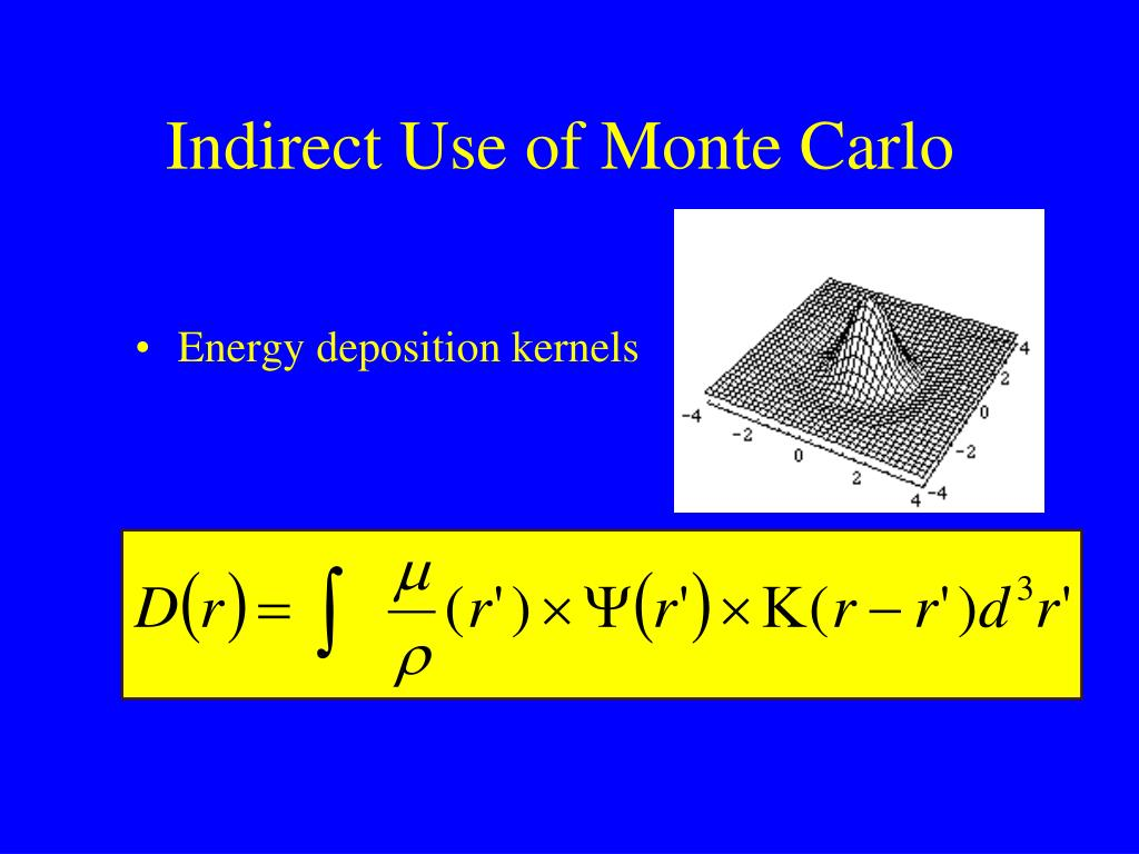 Indirect Use of Monte Carlo