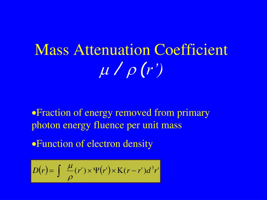 Mass Attenuation Coefficient