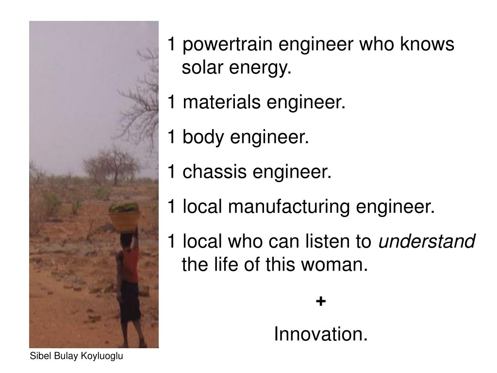 1 powertrain engineer who knows solar energy.