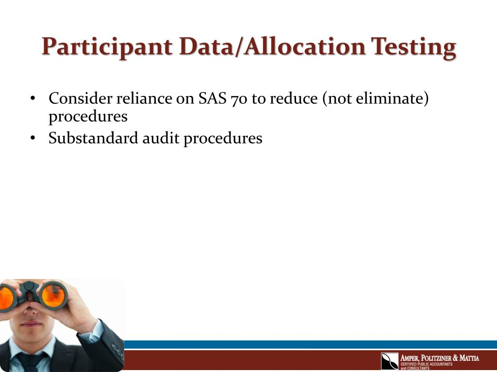 Participant Data/Allocation Testing