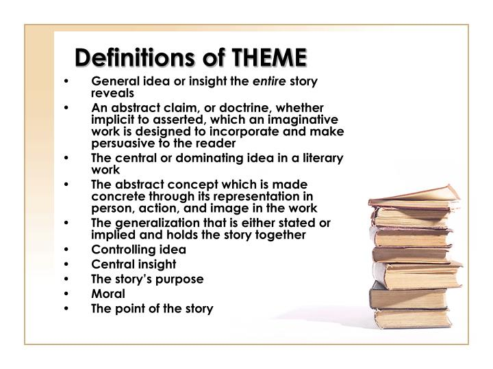 Definitions of theme