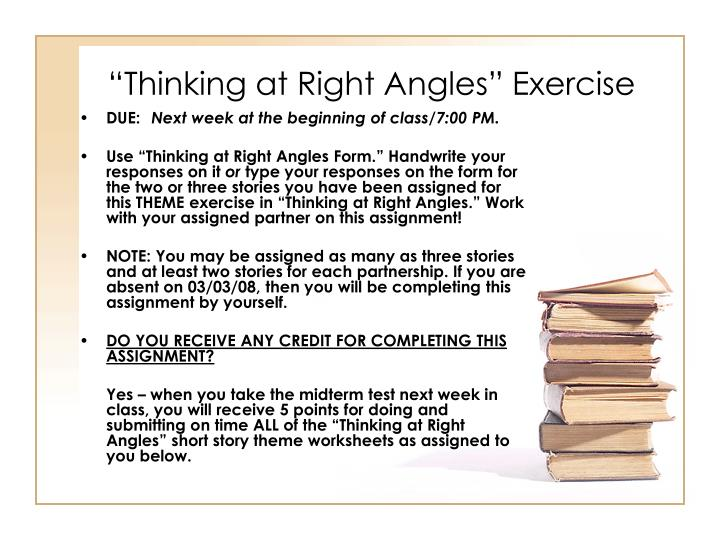 """Thinking at Right Angles"" Exercise"