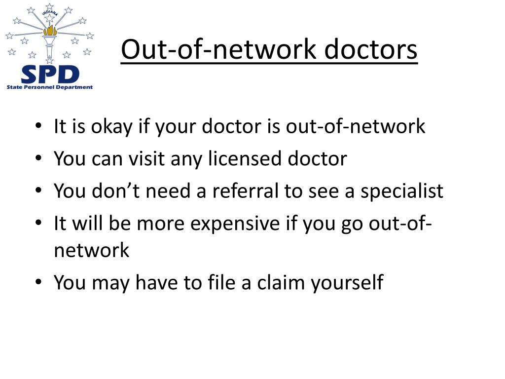 Out-of-network doctors