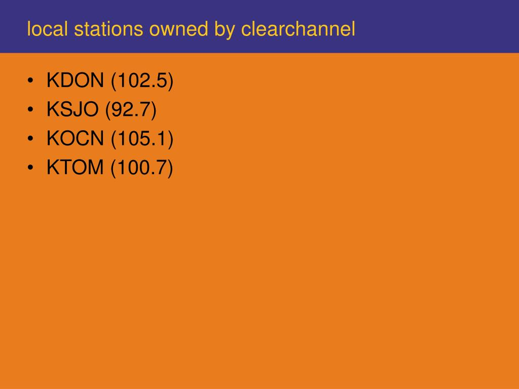 local stations owned by clearchannel