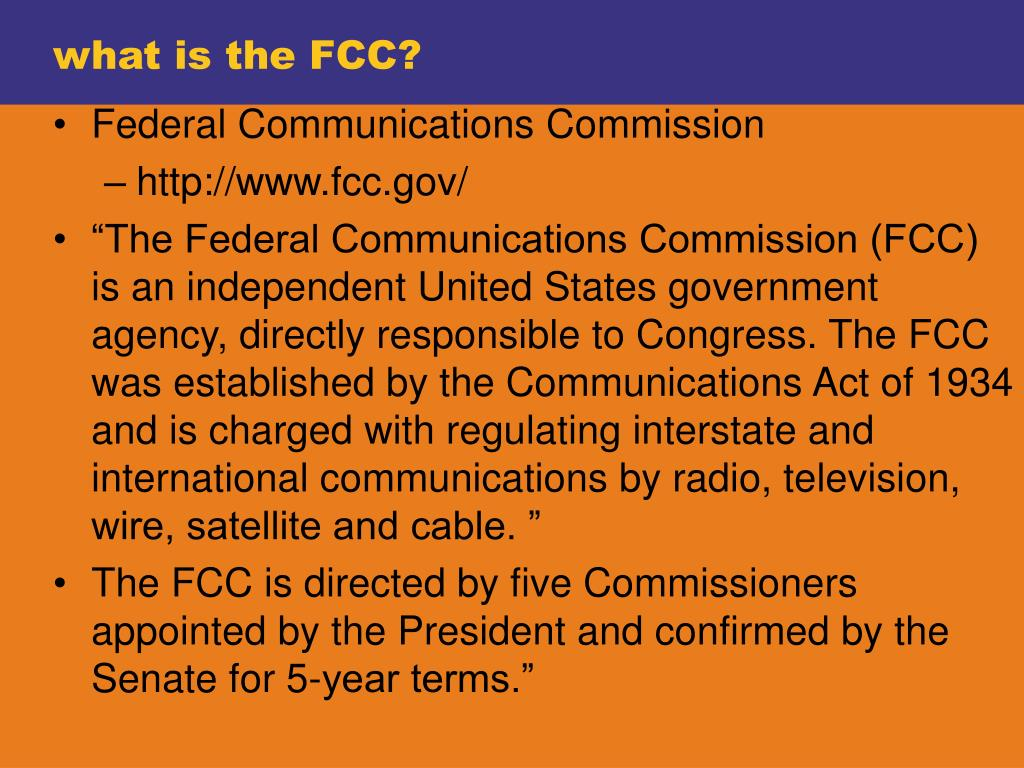 what is the FCC?