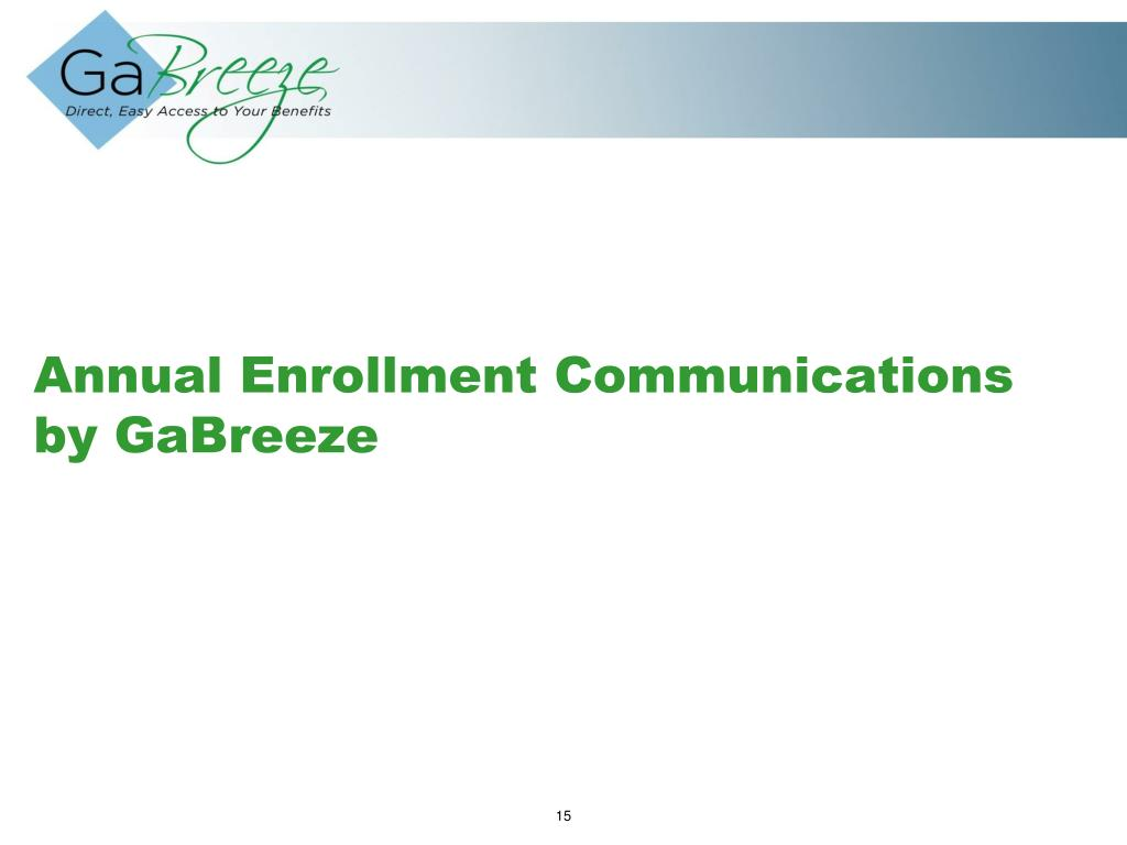 Annual Enrollment Communications by GaBreeze