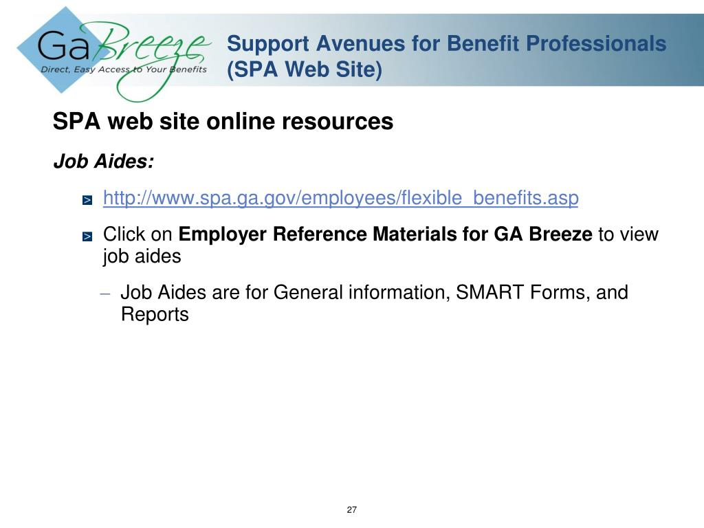Support Avenues for Benefit Professionals