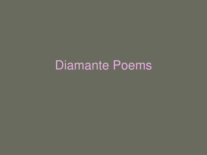 Diamante poems l.jpg