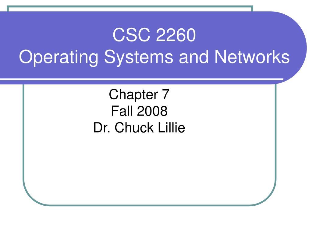 CSC 2260