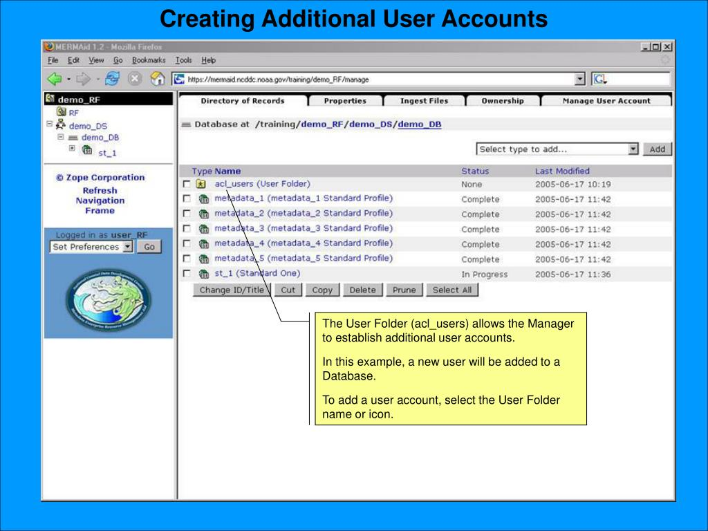 Creating Additional User Accounts
