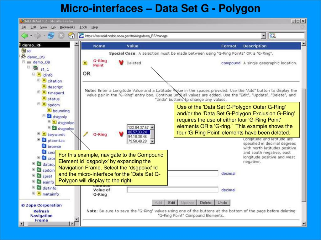 Micro-interfaces – Data Set G - Polygon