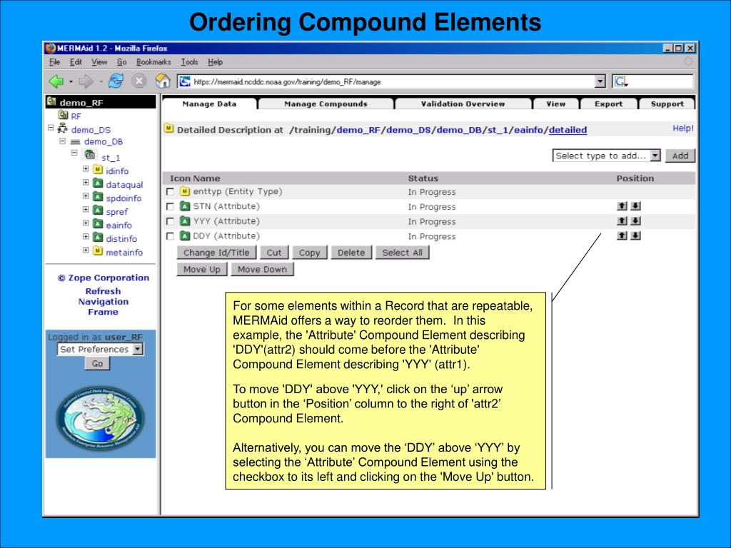 Ordering Compound Elements