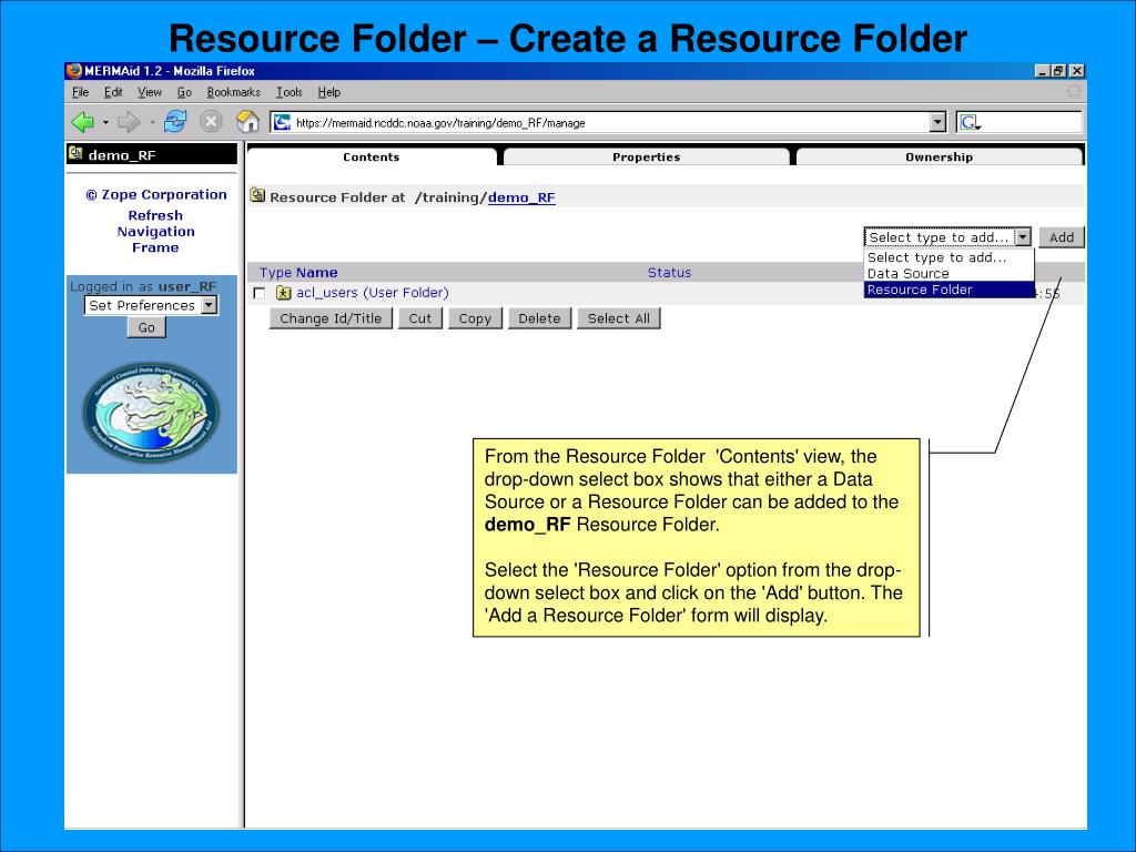 Resource Folder – Create a Resource Folder