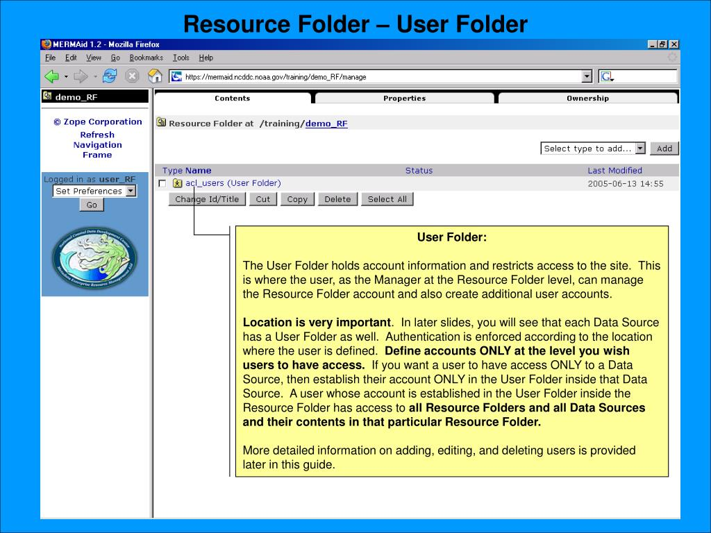 Resource Folder – User Folder