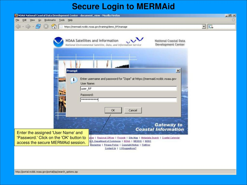 Secure Login to MERMAid
