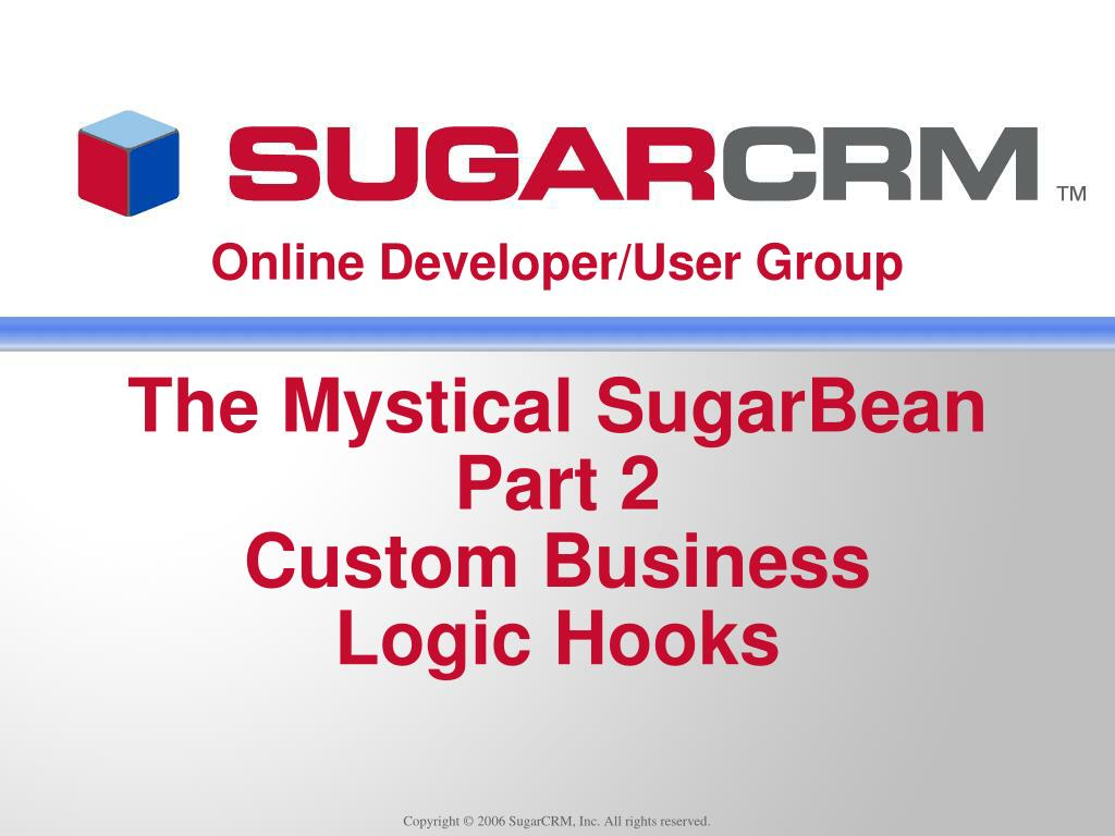 Copyright © 2006 SugarCRM, Inc. All rights reserved.