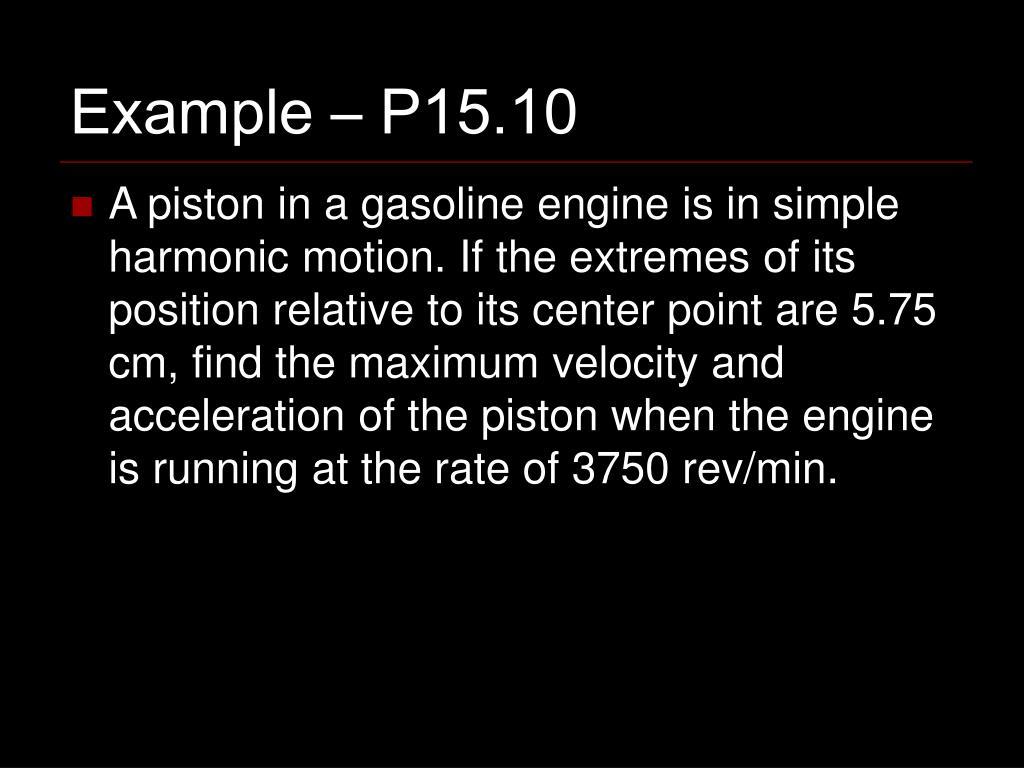 Example – P15.10