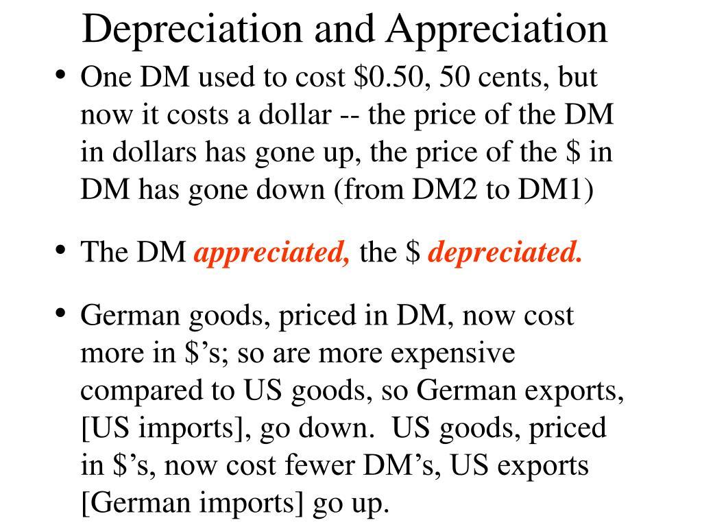 Depreciation and Appreciation