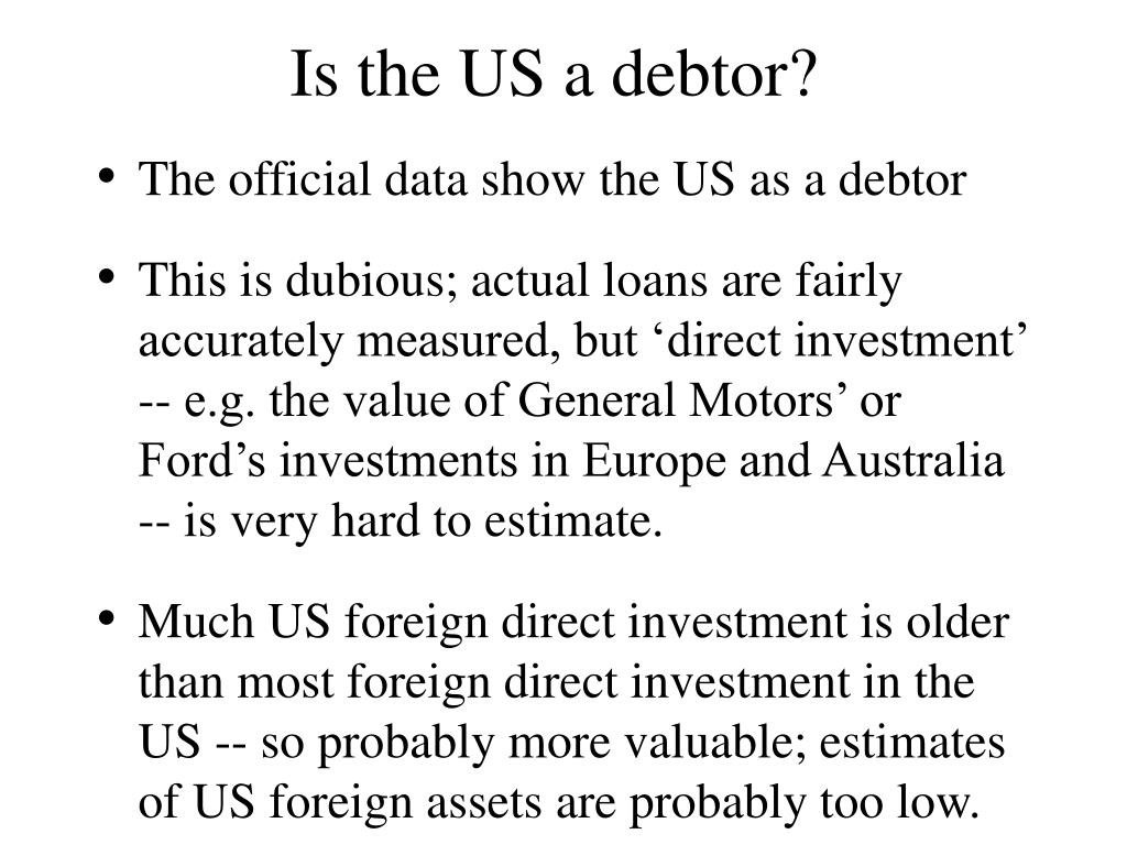 Is the US a debtor?