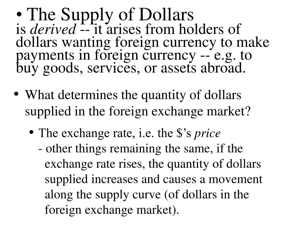 The Supply of Dollars