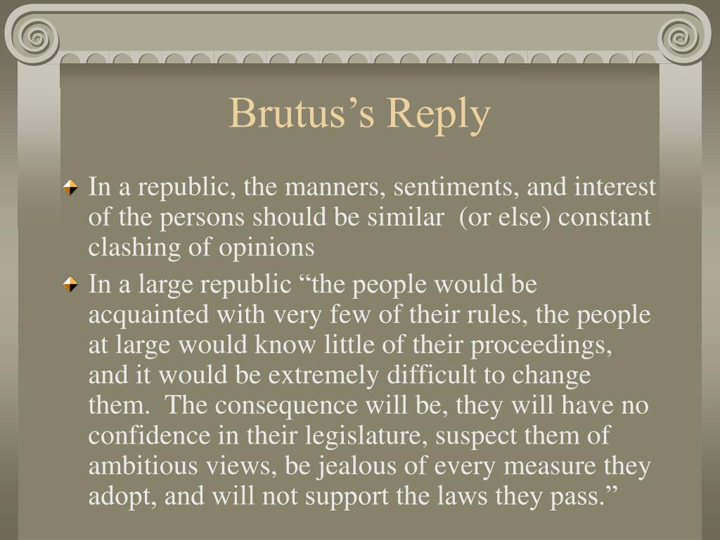 Brutus's Reply