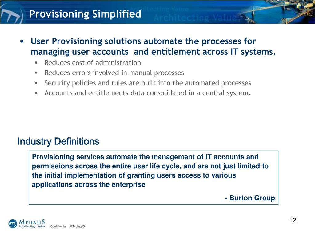 Provisioning Simplified