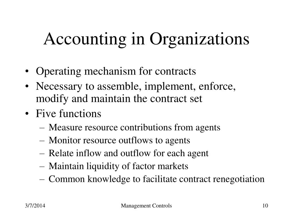 Accounting in Organizations