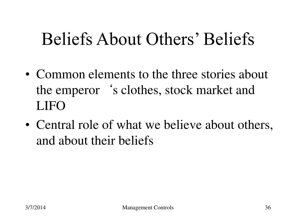 Beliefs About Others' Beliefs
