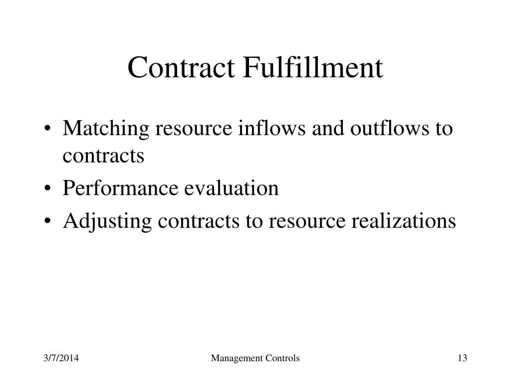 Contract Fulfillment