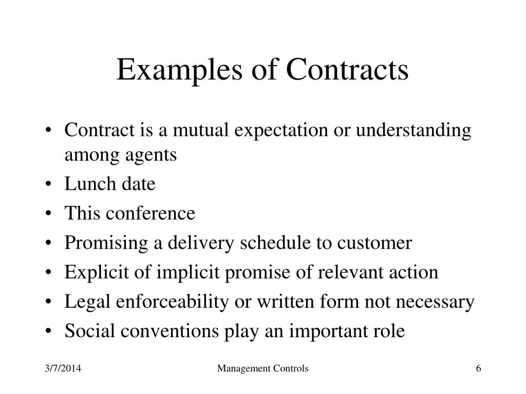 Examples of Contracts