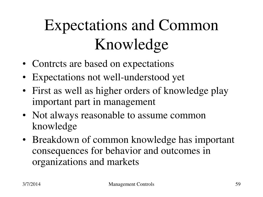 Expectations and Common Knowledge