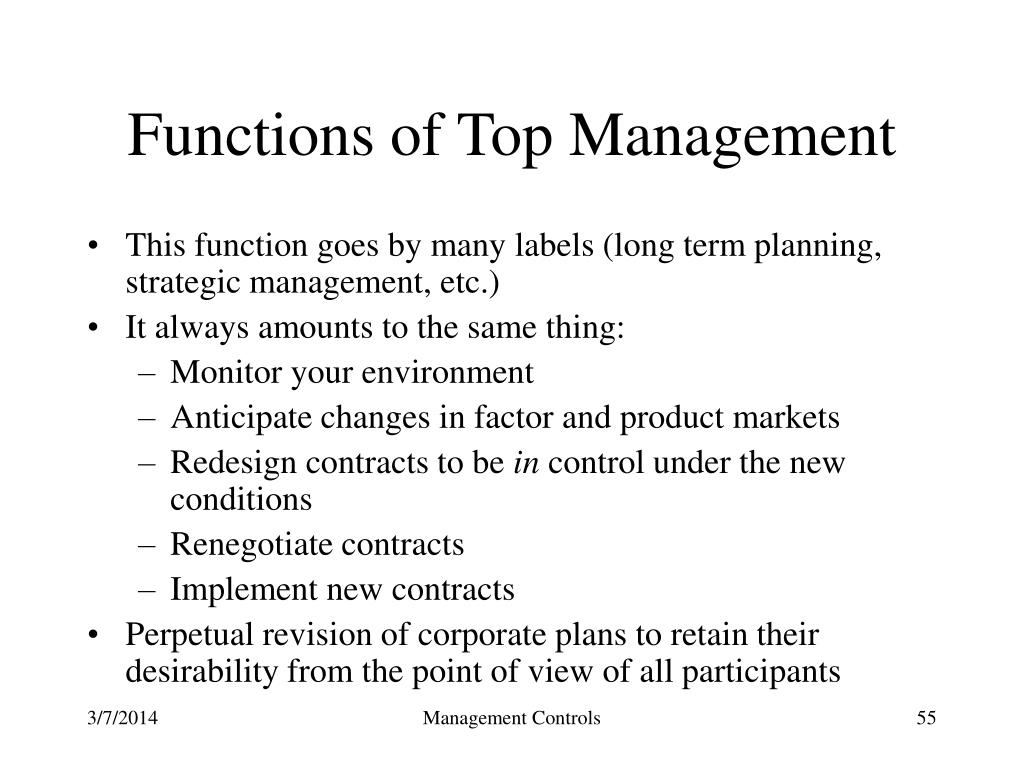 Functions of Top Management