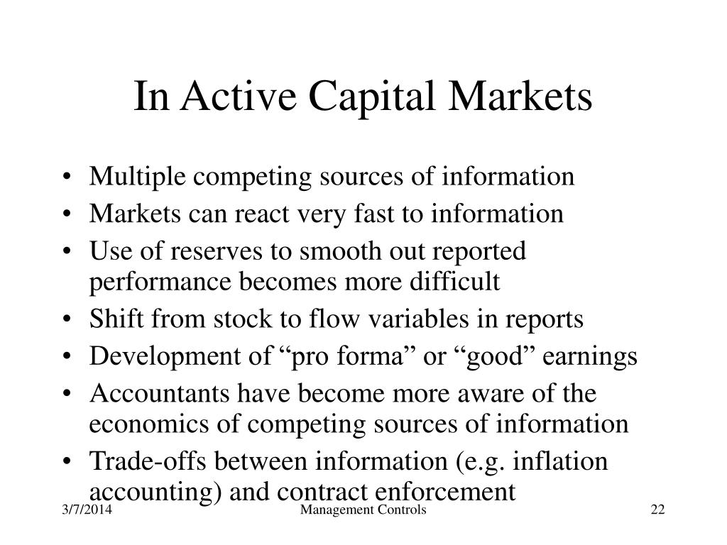 In Active Capital Markets