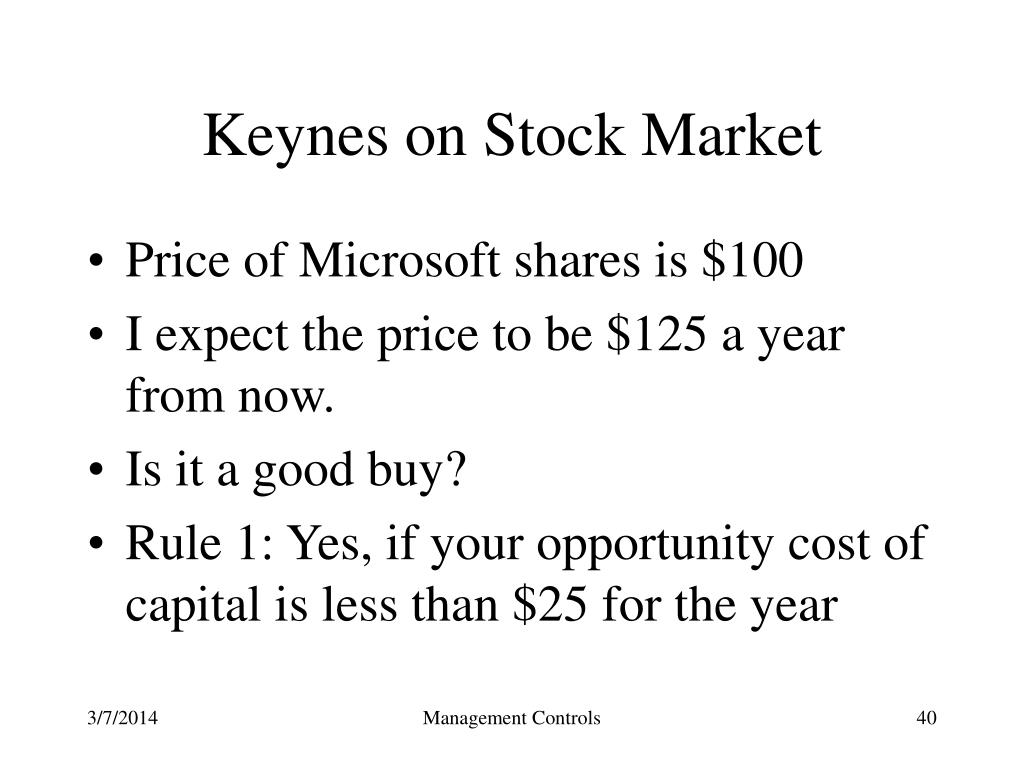 Keynes on Stock Market