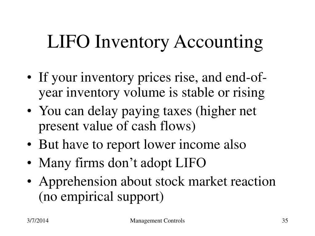 LIFO Inventory Accounting